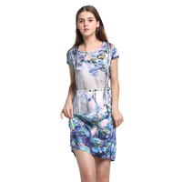 100% Silk Satin Straight Dress Pure Silk Women Summer Dresses Comfortable Breathable Clothing Factory Direct Sales