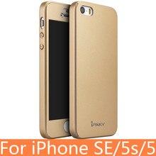 Полное Покрытие для iPhone SE Оригинальный IPAKY Чехол для iPhone SE защитная Крышка для Apple iPhone SE 5S 5 Чехол для iPhone 5S SE