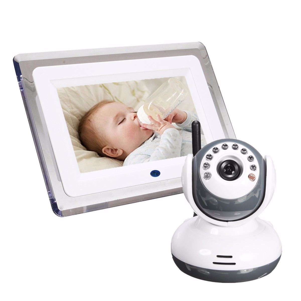 NEW 2.4G Wireless Digital 7 LCD Baby Monitor Camera Audio Talk Video Night Vision Security Camera aputure digital 7inch lcd field video monitor v screen vs 1 finehd field monitor accepts hdmi av for dslr