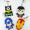 Card Holders Cartoons Bank Credit Silicone Neck Strap Card Bus ID Holders Identity Badge with Key chain wholesale ZC024
