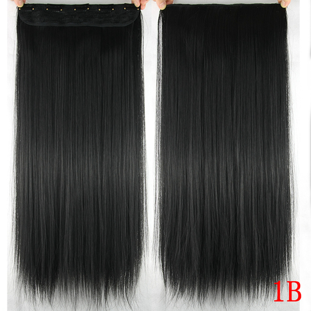 Long Straight Clip Synthetic Hair Extensions