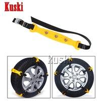 10X Car Wheel Snow Chains For Kia Rio K2 Ceed Soul Cerato Sorento Sportage For Jaguar XE XF XJ For Saab 9 3 9 5 93 For MG 3 ZR
