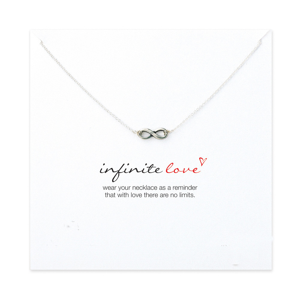 Hot sale sparkling infinite love necklace short necklace clavicle you can never have enough of it a persons capacity to give and receive love is as endless as the stars in the sky remind someone how much you love them aloadofball Image collections