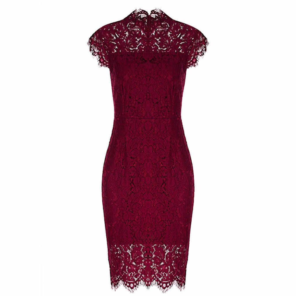 Вечерние кружевные платья, женское элегантное платье без рукавов, цветочное кружевное офисное платье-карандаш, красные платья, 4 цвета, вечерние платья, новинка 2018