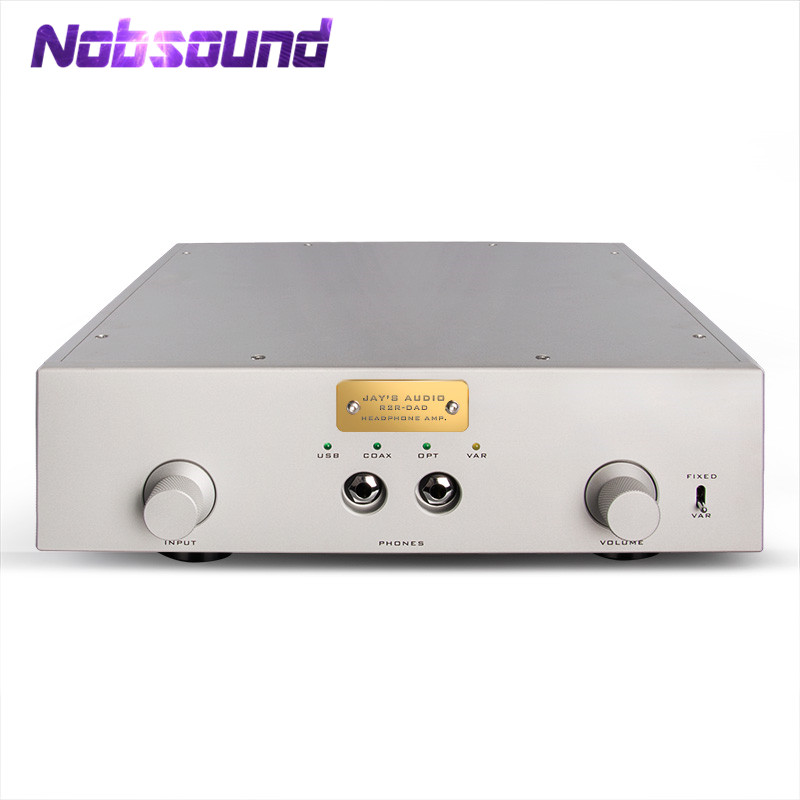 цена на Nobsound Hi-End Integrated R2R-DAD USB DAC DSD Audio Decoder HiFi Headphone Amp Stereo Preamp with Italy Amanero Daughter Card