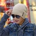 Новый плюс кашемир шляпа полосатые буквы вязаная шапка осенью и зимой с капюшоном мужской лыжную шапочку Skullies & Шапочки