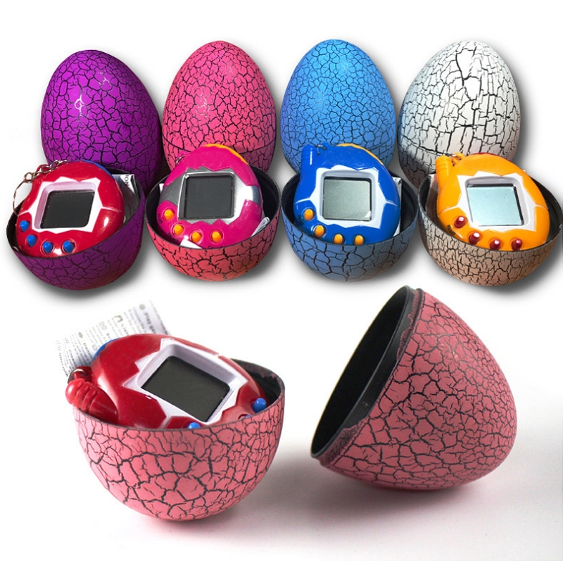 Cartoon Electronic Pet Mini Hand-hold Digital Virtual Game Machine Kids Toys Egg W15
