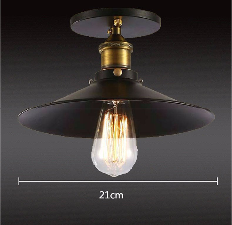b2daae9af55 Searching for exquisite material and find quality Loft Vintage Ceiling Lamp  Round Retro Ceiling Light Industrial Design Edison Bulb Antique Lampshade  ...