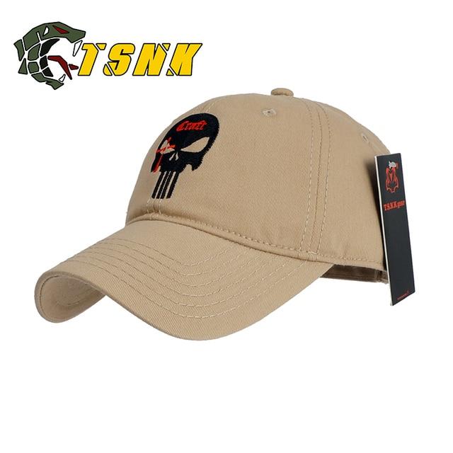 2aa877a324278 TSNK Men Women Baseball Cap Running Cap Hat Tactical Hat Amercian Punisher SEAL  Team Cotton Hat Adjusted Snapback