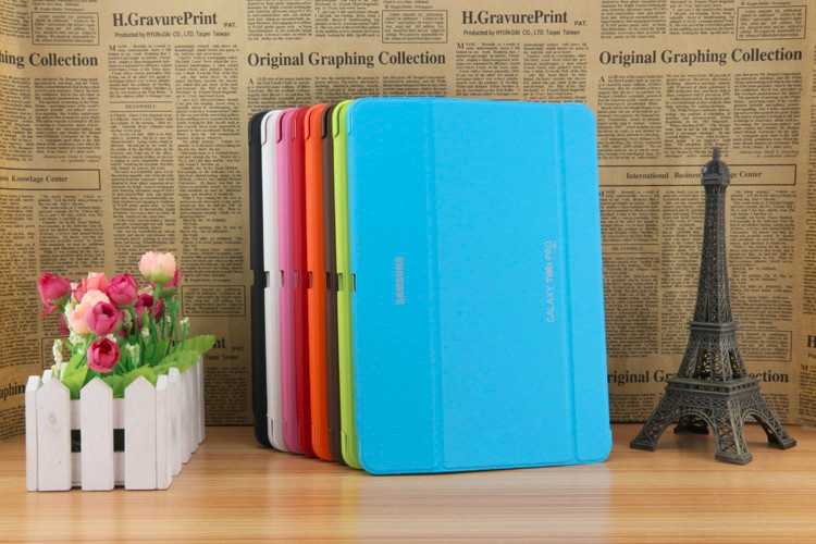 3 in 1 Christmas gifts Stand Pu Leather Case Smart Cover For Samsung GALAXY Tab pro 10.1 T520 T525 case + Stylus + Screen Film