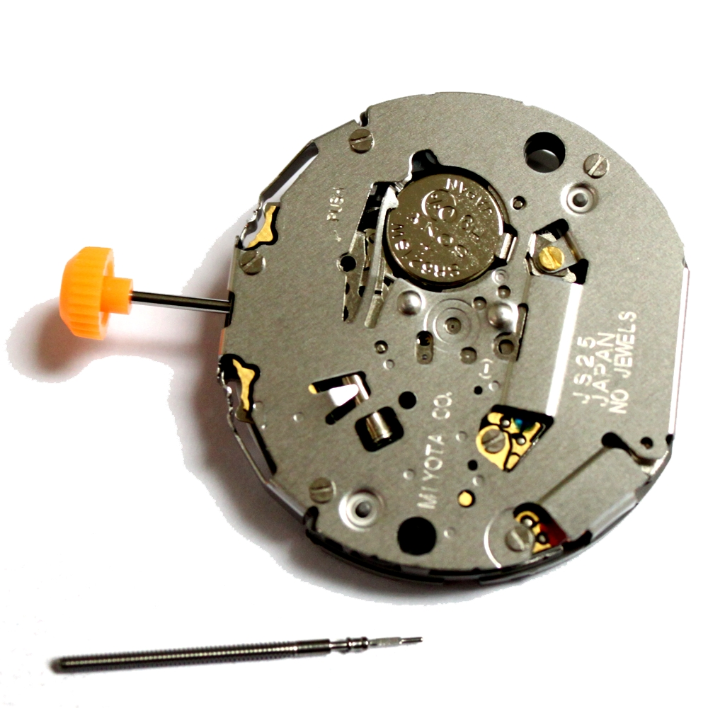 MIYOTA JS25 Quartz Watch Movement with Day At 3 Position цена и фото