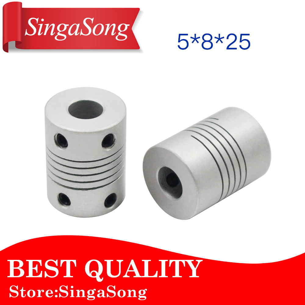 5 to 5mm Aluminium Shaft Coupler Coupling CNC Machine Lead Flux Workshop