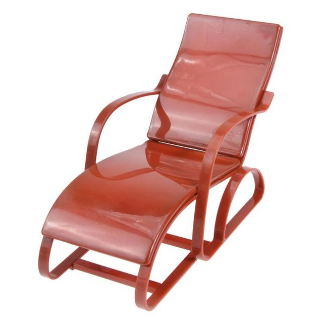 Colorful Plastic Beach Lounge Chair For Doll House