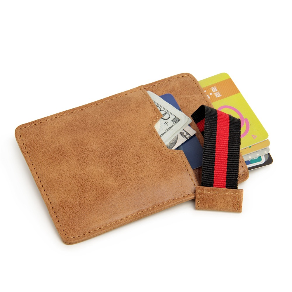 Gibo Auja Rfid Blockering Oljevax Äkta Läder Vintage Card Holder - Plånböcker
