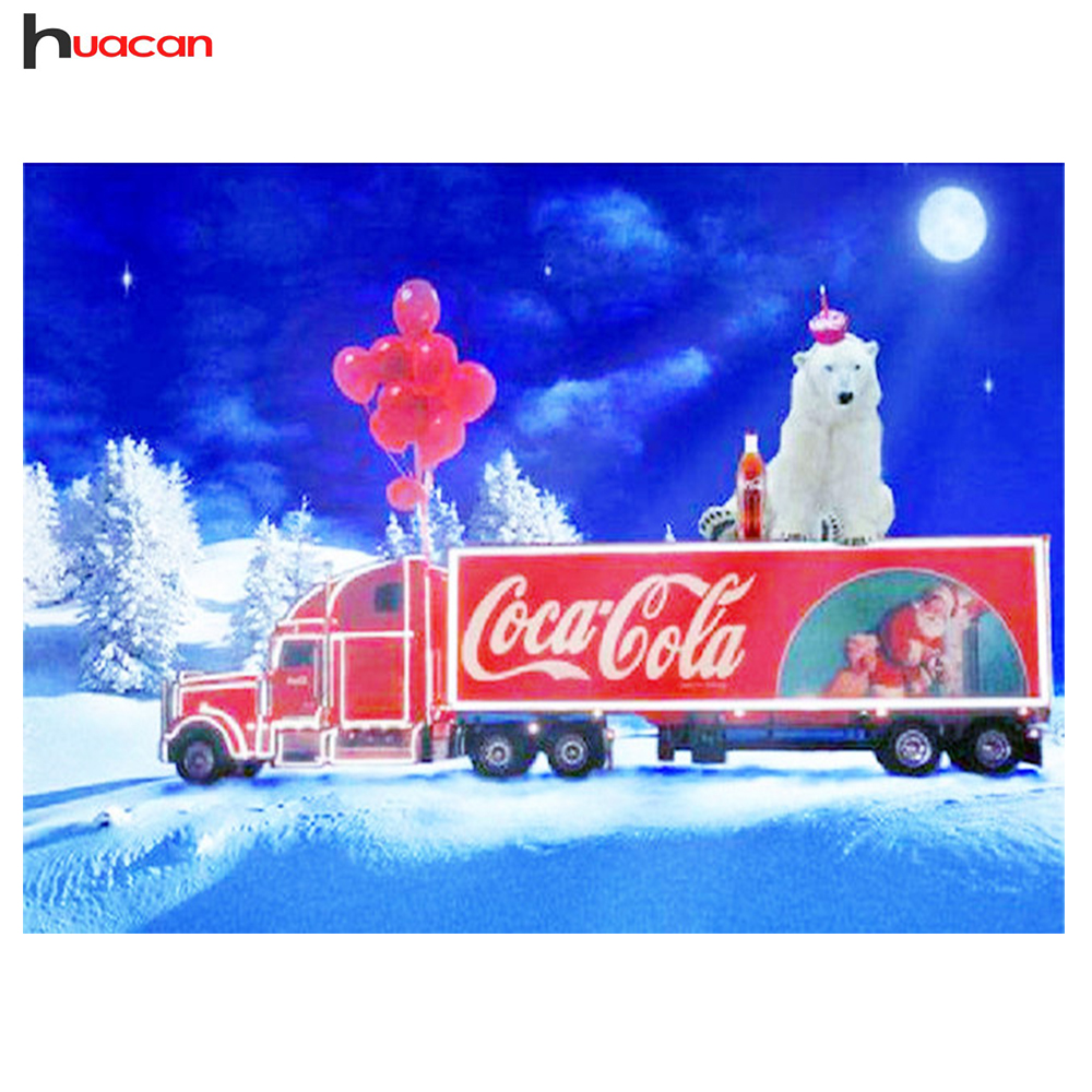 Huacan,Diamond Embroidery Car Christmas Decorations,5D Diamond Painting Cross Stitch Picture Rhinestones,DIY Diamond Mosaic Sale