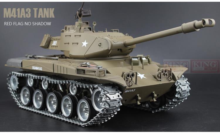 все цены на  Henglong model 1/16 scale 2.4GHz RC battle tank U.S.M41A3 Ultimate metal version Smoke Sound Metal Gear and Tracks  онлайн