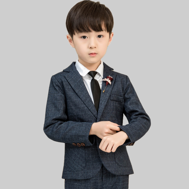 LUOBOBEIBEI Formal Children Costume For Boys Suits Wedding Clothes Boys Dress Plaid 5 Pieces Tuxedo kids Blezer Suits ToddlerLUOBOBEIBEI Formal Children Costume For Boys Suits Wedding Clothes Boys Dress Plaid 5 Pieces Tuxedo kids Blezer Suits Toddler