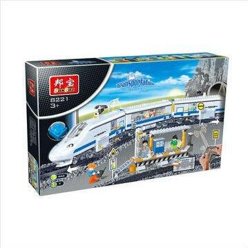 Banbao 8221 juguetes de Control remoto transporte tren 662 unids Plastic modelo Building Block Sets Bricks educación de bricolaje juguetes