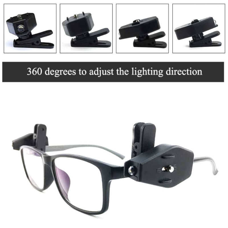 Good! 2pcs Portable Outdoor Night Fishing Light Tool Mini LED Eyeglass Clip On Portable Im Im