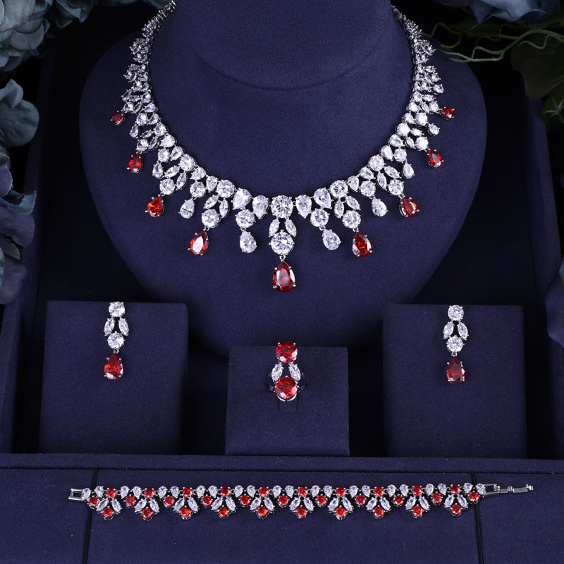 HTB10FzZM9zqK1RjSZPcq6zTepXaB jankelly Hotsale African Blue Bridal Jewelry Sets New Fashion Dubai Necklace Sets For Women Wedding Party Accessories Design