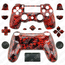 Custom Skull Grave Red Shell case for Sony PlayStation 4 PS4 dualshock 4 Wireless Controller with Buttons