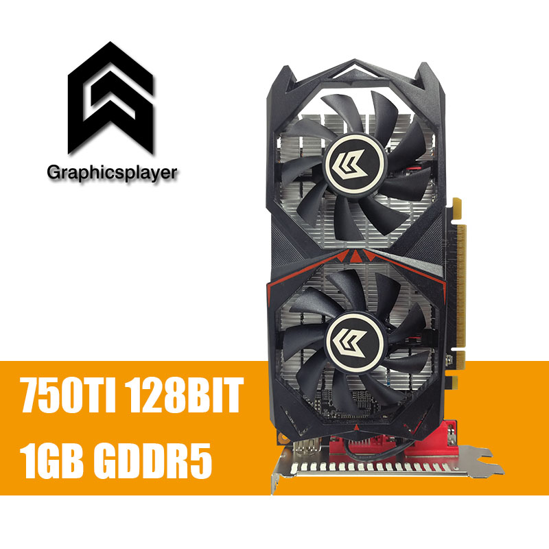 Original Grafikkarte GTX 750TI 1024 MB/1 GB 128bit GDDR5 Placa de Video carte graphique Grafikkarte für NVIDIA Geforce PC