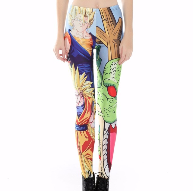 Cute Dragon Ball Print Women Leggings