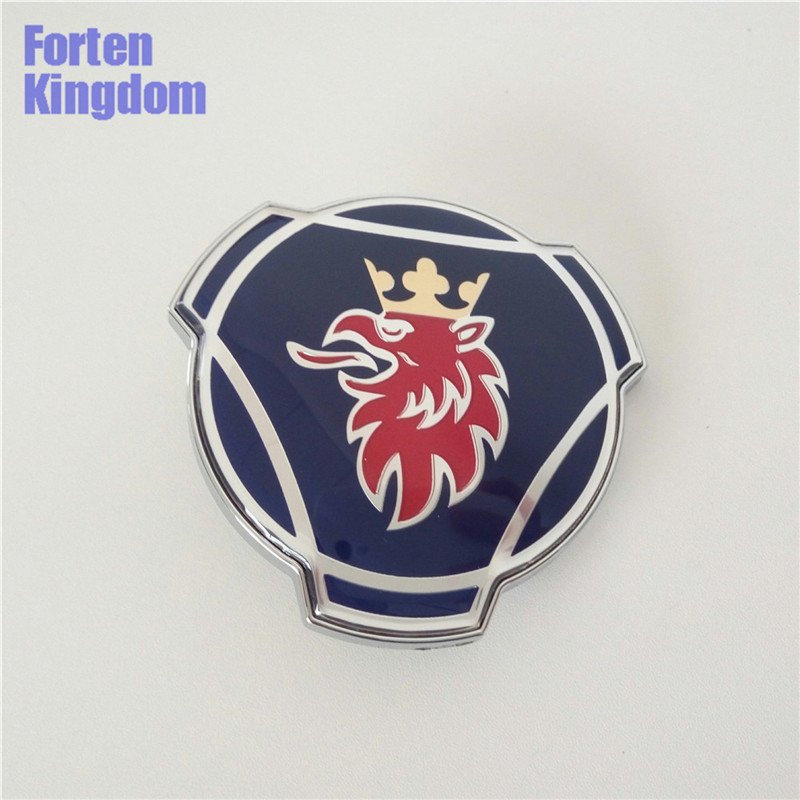 5 Pieces New For Scania Car Truck Front Grille Grill Bonnet Emblem 80mm Blue ABS Badge