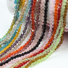 ZHUBI Mixed Colors Czech Bicone Spacer Beads 2/3/4/6mm AAA Crystal Glass Faceted DIY For Crystals Jewelry Wedding Making