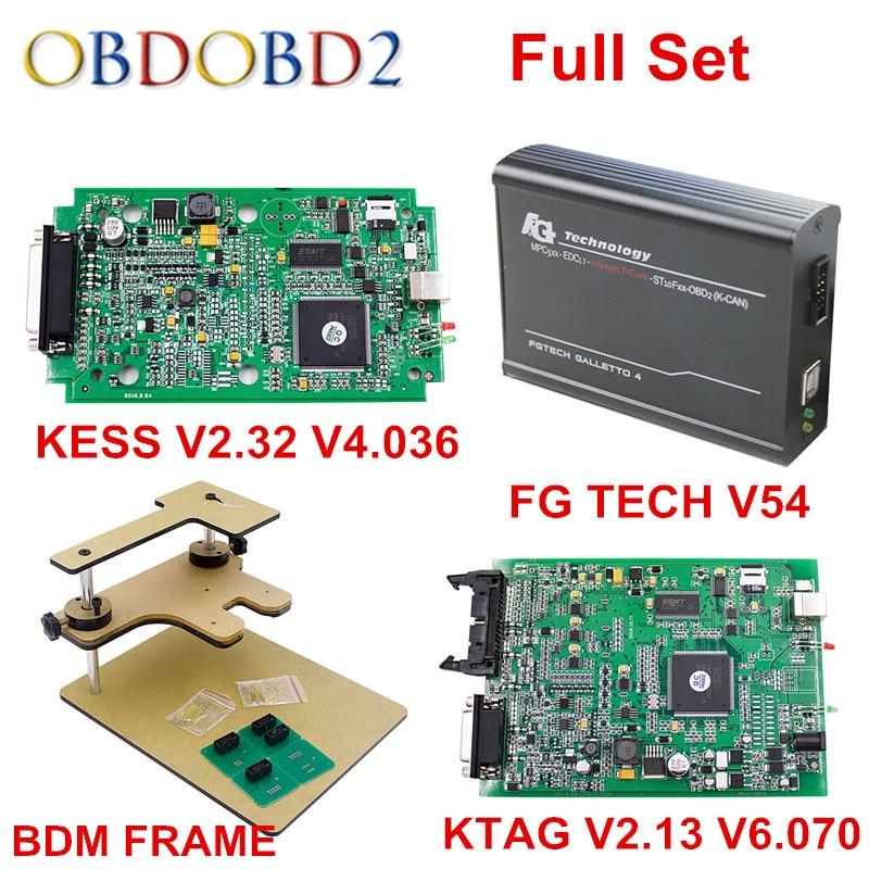 imágenes para Conjunto completo V2.13 + herramienta de diagnóstico V2.33 KTAG KESS V2 V4.036 + FG TECNOLOGÍA Galletto 4 V54 + FRAME BDM Adaptadores Llenos/KESS V5.017 V2.23 ECM Como Regalo