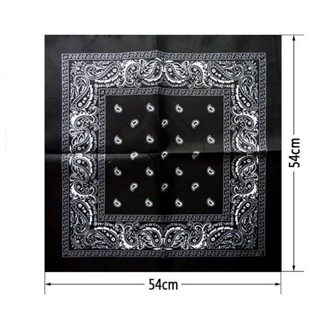 1 pc Newest Cotton Blend Hip-hop Bandanas For Male Female  Head Scarf Scarves Wristband hot selling