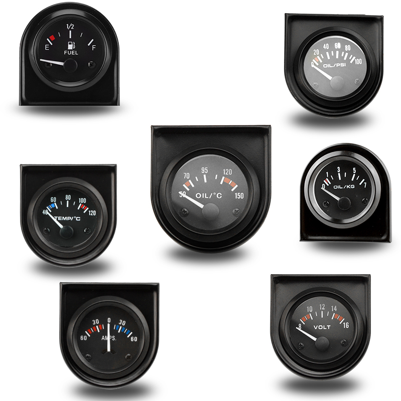 2 52MM Water temp/ Oil temp /Oil press psi/ Oil press kg /Volt /Ammeter /Fuel level (without float) Gauge car meter cnspeed 2 52mm car boost gauge bar psi exhaust gas temp water temp oil temp oil press air fuel gauge voltmeter tachometer