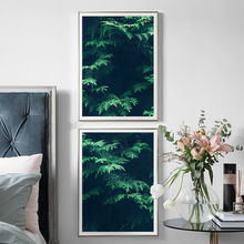 Wall Art Canvas Painting Fresh Green Tree Leaves Forest Nordic Posters And Prints Plants Pictures For Living Room Decor