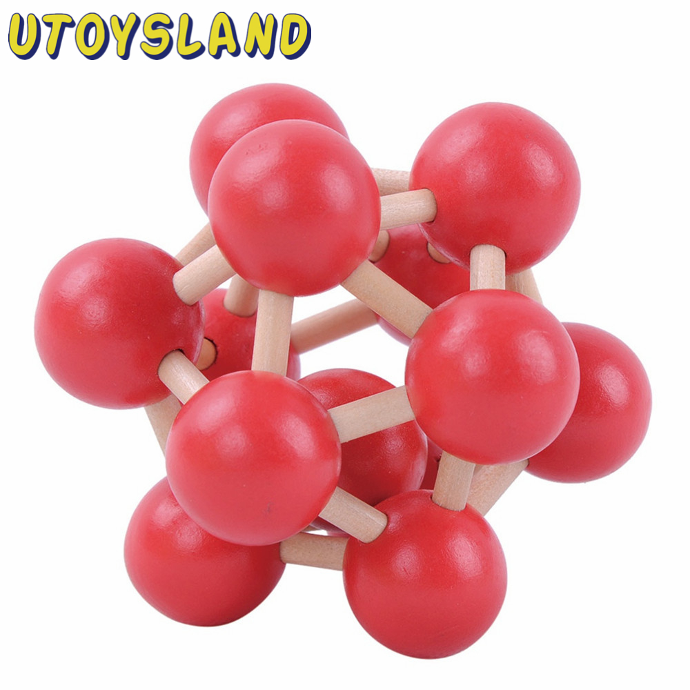 UTOYSLAND Classical IQ Brain Teaser Puzzle 3D Atomic Structure Wooden Kong Ming/ Lu Ban Lock Educational Toys For Kids Children ben buchanan brain structure and circuitry in body dysmorphic disorder