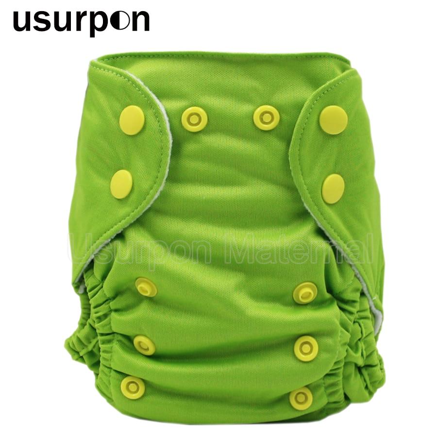 [usurpon] 1pc newborn cloth diaper solid color waterproof pul baby newborn diaper reusable cloth diaper washable diaper