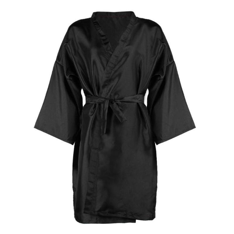 Hairdressing Wrap Spa Massage Bathrobe Waterproof Beauty Salon Clothes Black Clothing