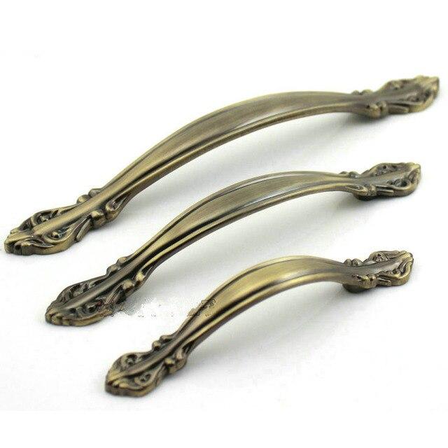 96mm Antique Bronze Zinc Alloy Kitchen Drawer Pulls Cabinet Door Knobs  Chest Handles Closet Pull Pack