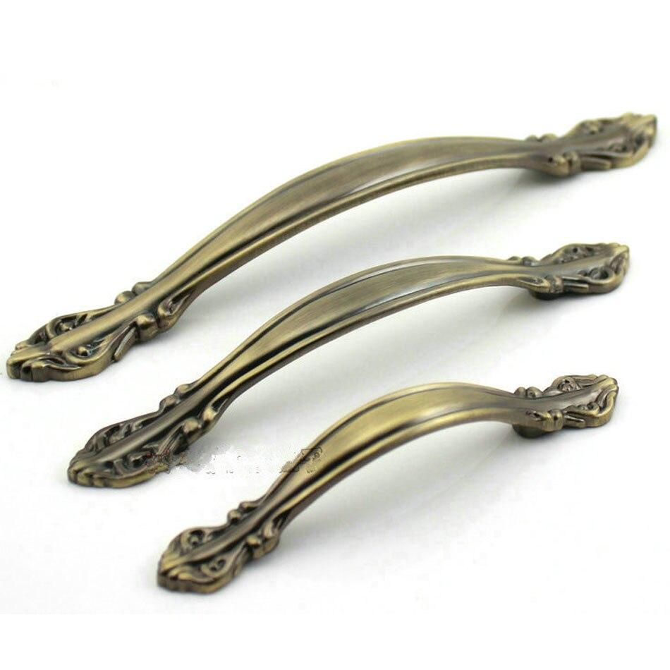 96mm Antique Bronze Zinc Alloy Kitchen Drawer Pulls Cabinet Door Knobs  Chest Handles Closet Pull Pack - Popular Door Knobs Bronze-Buy Cheap Door Knobs Bronze Lots From