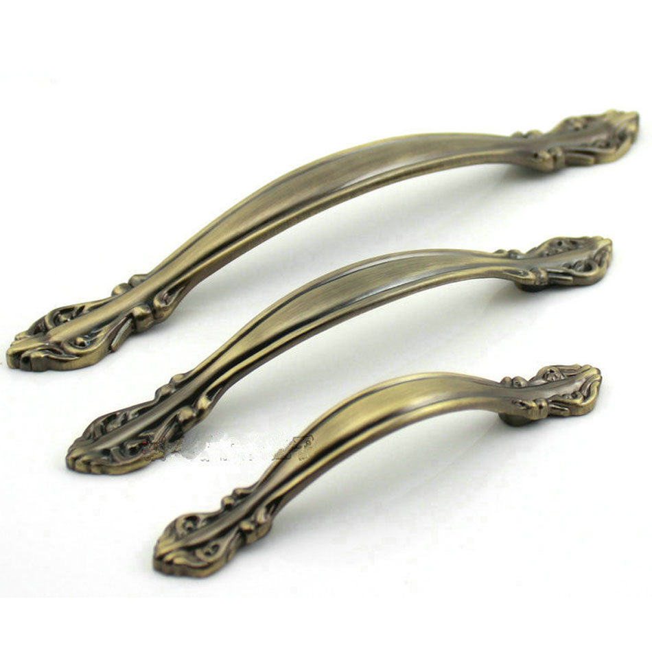 96mm antique bronze zinc alloy kitchen drawer pulls cabinet door knobs chest handles closet pull pack