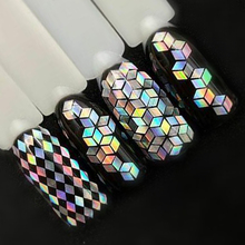 1 Bottle Laser Silver Nail Glitter Sequins Dust Mixed Rhombus Shape Tips DIY Charm Polish Flakes Decorations Manicure SALS01-16 cheap Nail Sequins Full Beauty About 1g bottle shaped rhombus holographic nail glitter powder shape nail glitter flakes glitter powder for nail