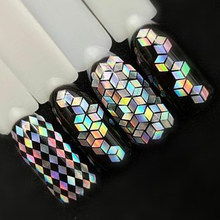 1 Bottle Laser Silver Nail Glitter Sequins Dust Mixed Rhombus Shape Tips DIY Charm Polish Flakes Decorations Manicure SALS01-16(China)