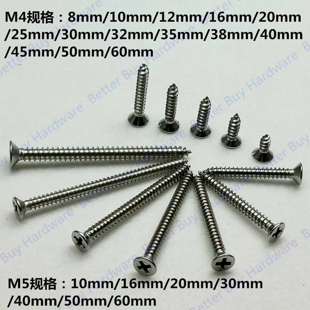 M4 / M5 Stainless steel 304 self-tapping screw furniture hardware Accessories 1 pair 4 inch stainless steel door hinges wood doors cabinet drawer box interior hinge furniture hardware accessories m25