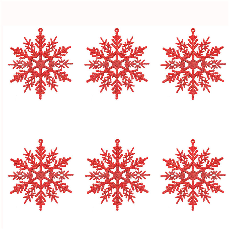 6pc Christmas Decoration Snowflakes 10cm Classic Snowflake Ornaments Christmas Tree Hanging new year Home Decor #4n14 (12)