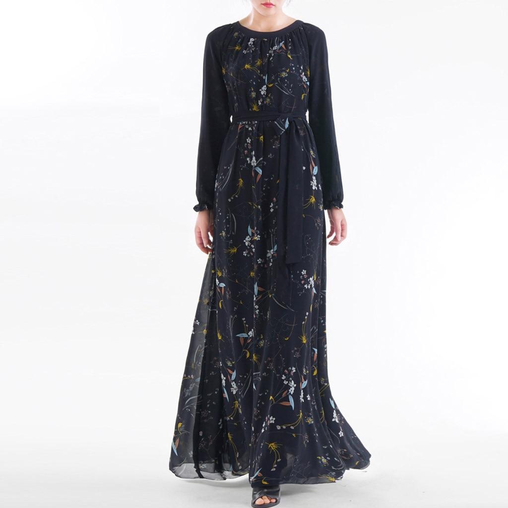 Abaya 2019 robe musulmane gris perles Abaya longue tenue de femme musulmane des deux côtés dubaï Abaya Maxi robes vêtements islamiques 510