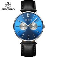 SEKARO Brand Men S Wrist Watch Curren Thin Clock Male Quartz Watches Men Business Calenda Watch