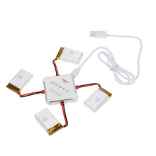 Brand New 4 in 1 SJ Lader Set met 4 stks 3.7 v 750 mah Lipo Batterij voor SJ300-1 HJ w609-9 H801-wifi RC Quadcopter(China)