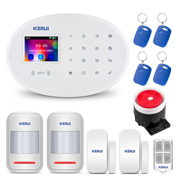 KERUI W20 GSM APP Control TFT Color Screen Standard Matching home Alarm System RFID Card Disalarm Wireless Home Burglar Alarm