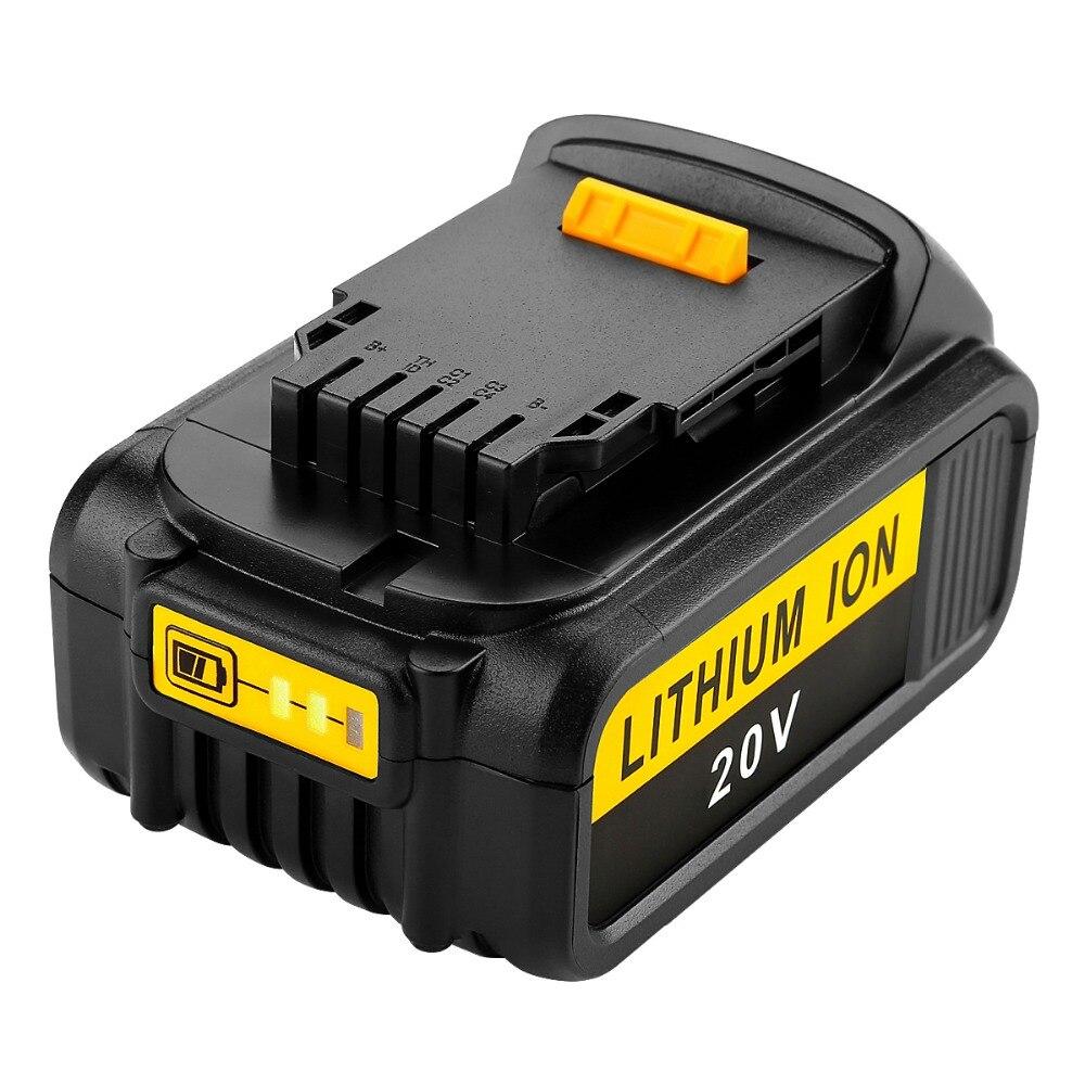 New For Dewalt Battery 20V 6000mAh fit DCB200 DCB180 DCB181 DCB182 DCB201 20V 6.0Ah high quality