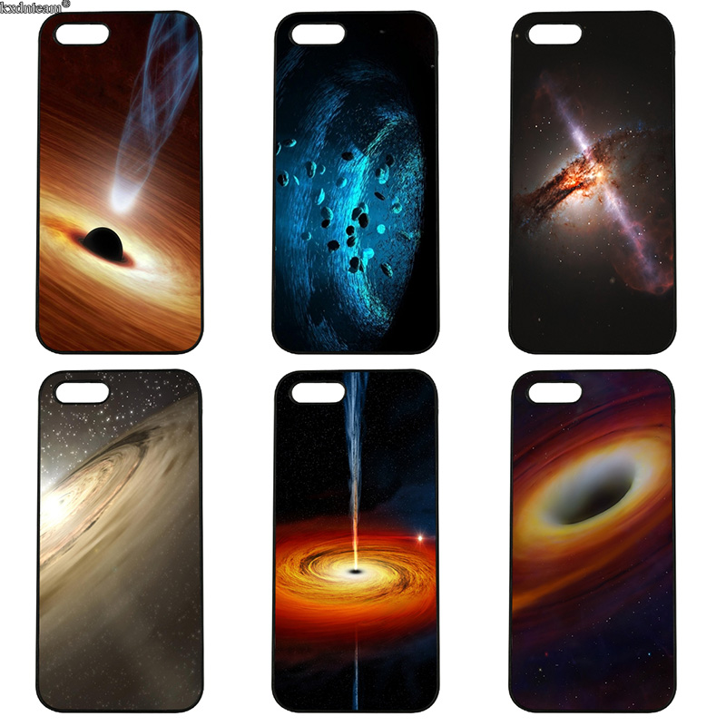 Hot Space Black Hole Universe Mobile Phone Case Hard PC Cover for iphone 8 7 6 6S Plus X 5S 5C 5 SE 4 4S iPod Touch 4 5 6 Shell