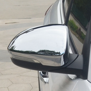 Image 5 - For Hyundai Tucson 2016 2017 2019 Chrome Side Door Mirror Cover Rear View Cap Molding Garnish Overlay Protector Car Styling 2pcs